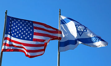 shutterstock_553755136 USA Israel Flags.