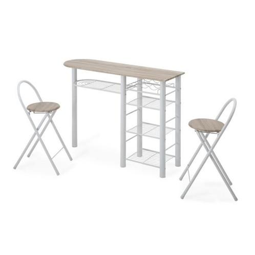 Ensemble Chaises Et Table Manosque Rangements Blanc Haute 2 3AL4Rc5jq