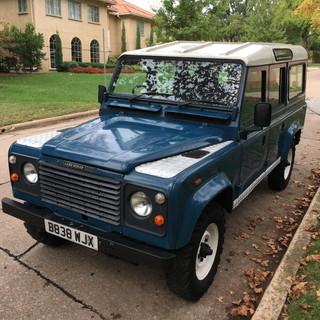 Blue Land Rover Defender