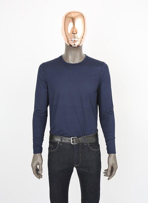 Tee-shirt Manches longues bleu