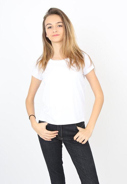 Tee-shirt blanc Femme manches courtes