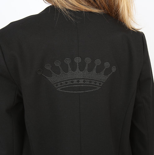 Blouson noir couronne noire