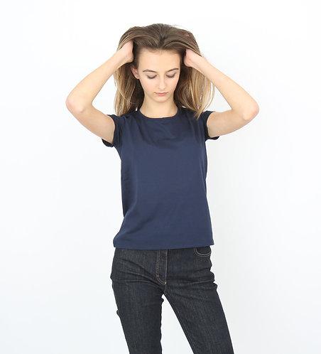 Tee-shirt bleu Femme manches courtes