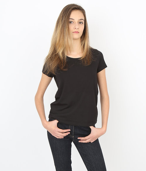Tee-shirt noir Femme manches courtes