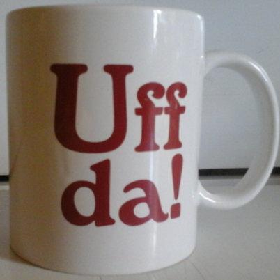 """""""Uff Da"""" White Ceramic Mug"""