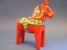 Red Mora Dala Horse - 4 inch