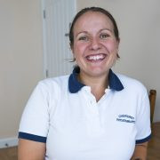 Physiotherapist Hayley Matthews at Saltash Physiotherapy