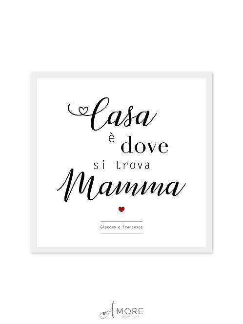 """Quadretto """"Casa è Mamma"""""""