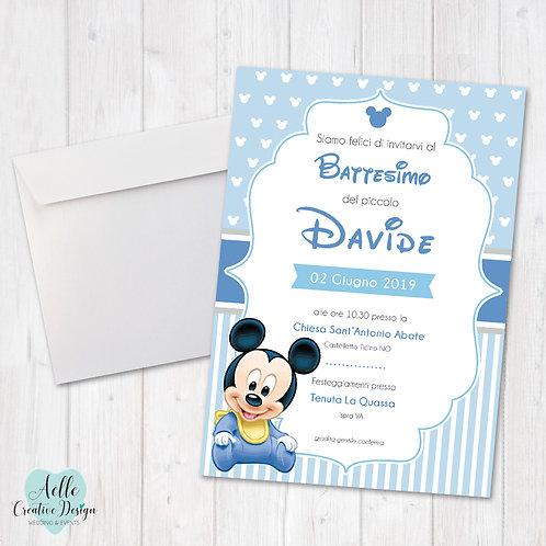 """Invito """"Disney Mickey"""""""