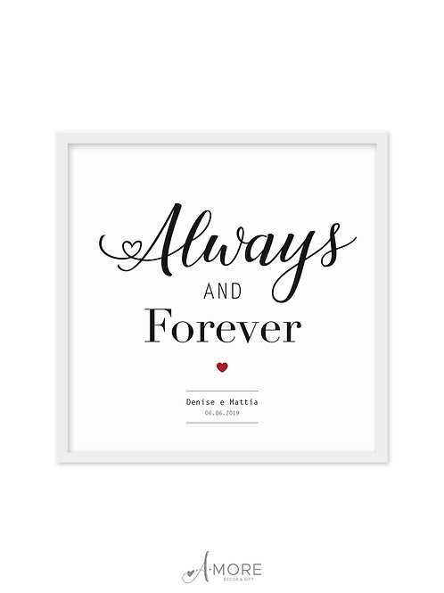 """Quadretto """"Always and Forever"""""""