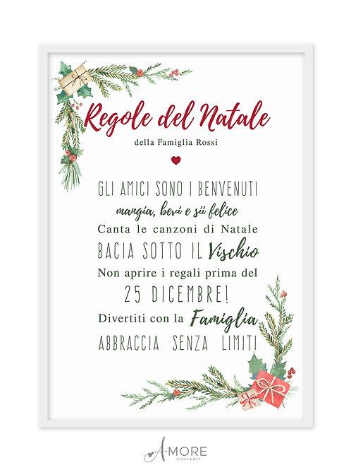 """Quadretto """"Regole del Natale"""""""