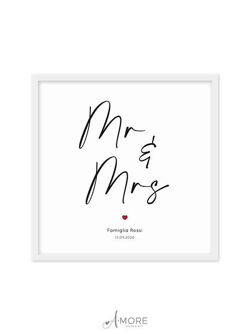 """Quadretto """"Mr & Mrs"""""""
