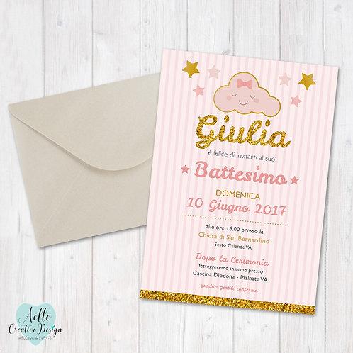 """Invito Battesimo """"Nuvoletta"""""""
