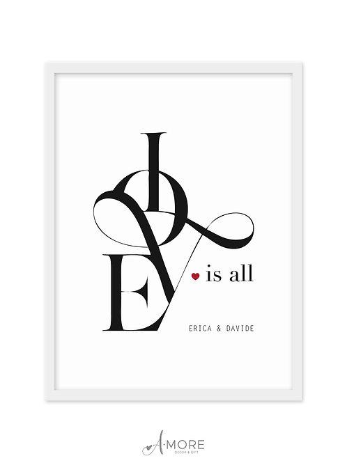 """Quadretto """"Love is All"""""""