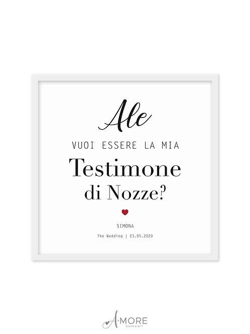 """Quadretto """"Testimone di Nozze"""""""
