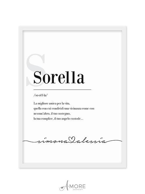 """Quadretto """"Sorella"""""""
