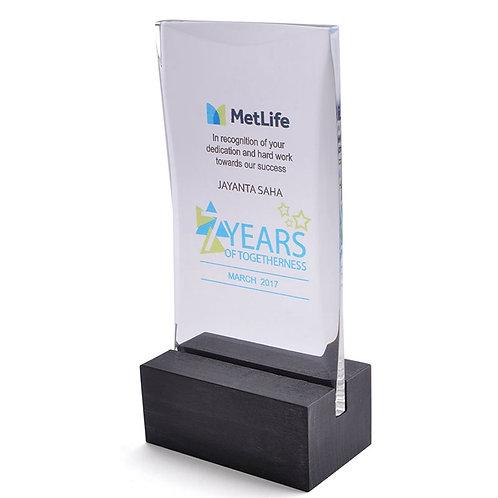 Metlife Acrylic Trophy