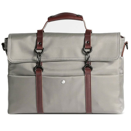 The Retro Canvas Matt Grey Messenger Bag