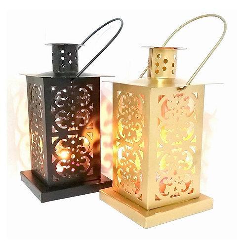 Black & Gold Iron Lantern