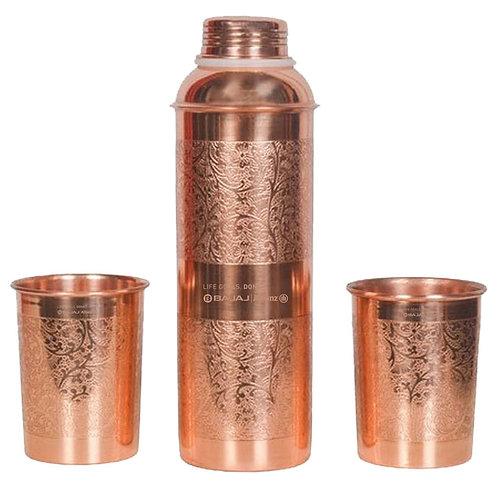 Copper Bottle Gift Set