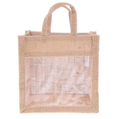 Jute Bag with Transparent Window