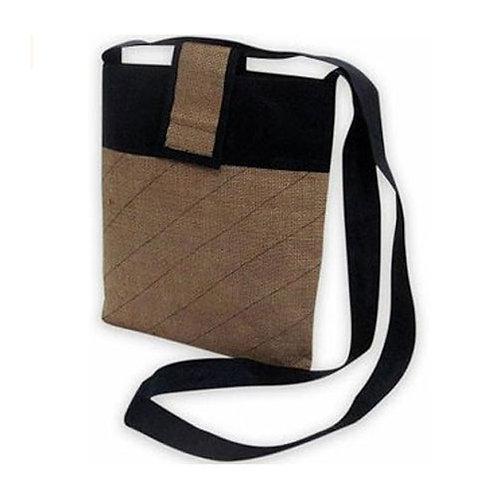 Casual Brown Jute Sling Bag