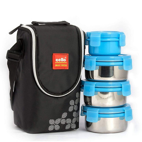 Cello Max Fresh Click Steel Lunch Box Set