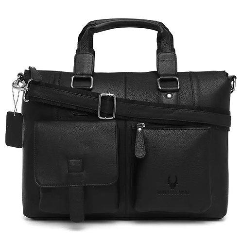 WildHorn Leather Black Messenger Bag