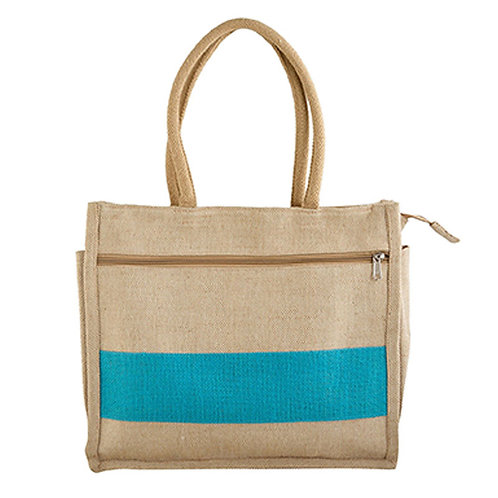 Rope Handle Jute Bag - 2 Zips