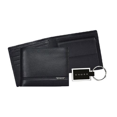 CROSS Slim Wallet & Metal Key Chain