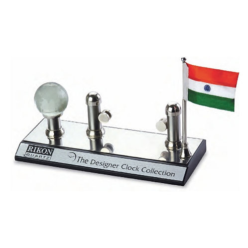 3 in 1 Name Card, Flag, Globe