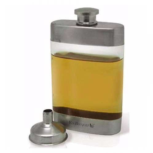Transparent Pocket Hip Flask Set – 5oz