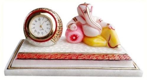 Marble Clock with Ganeshji