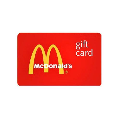 McDonalds Gift Voucher