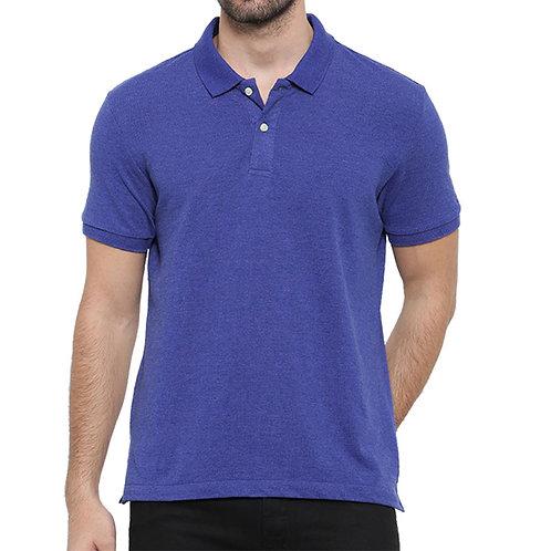 Arrow Sport Men Blue Polo Neck T-shirt