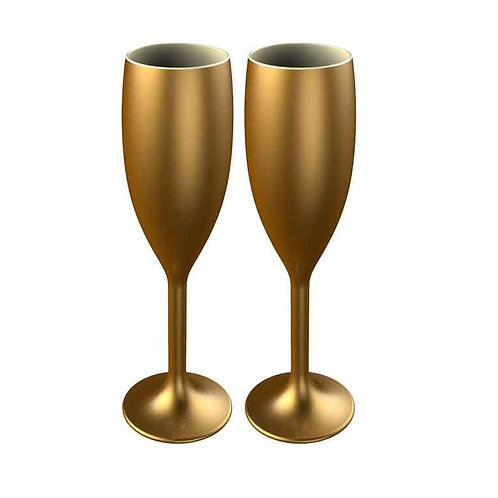 Gold Star Flute Champagne Glass - Pack of 2