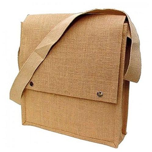 Jute Messenger Bag