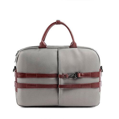 Matt Grey Laptop Messenger Bag