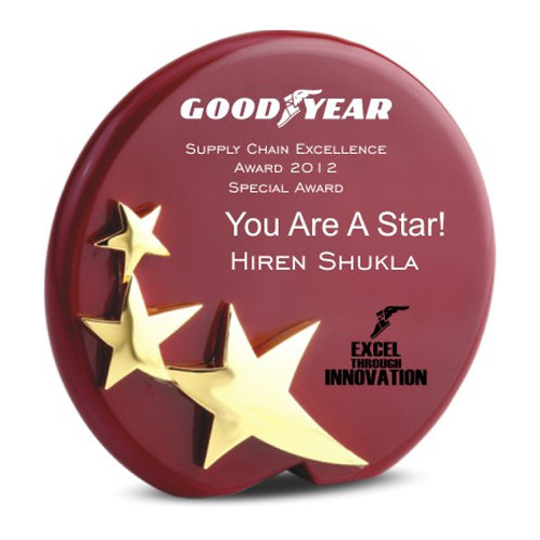 Golden Star Plaque