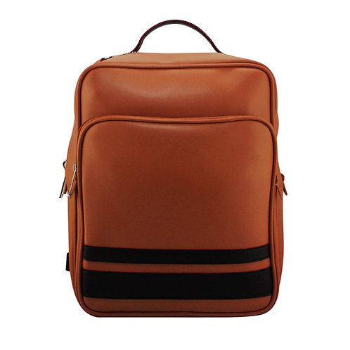 Tan Brown Vegan Laptop Backpack