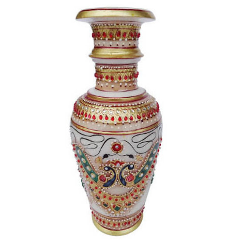 Marble Vase Peacock