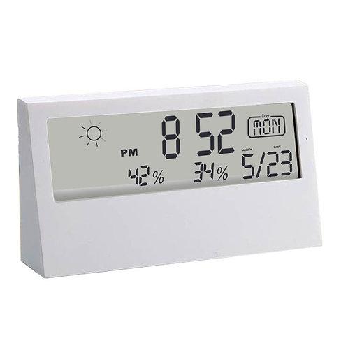 Sharp Weather Station Clock With See - Thru Display