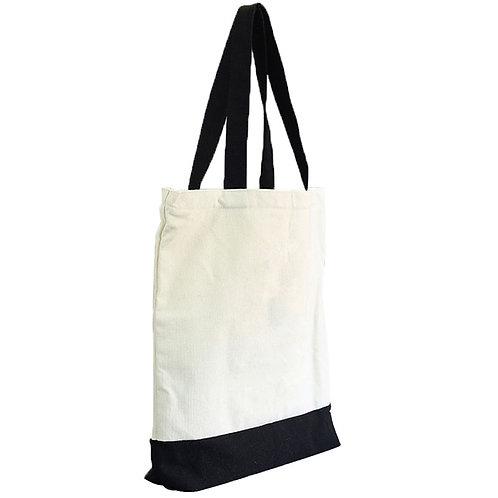 Black Handle Canvas Bag
