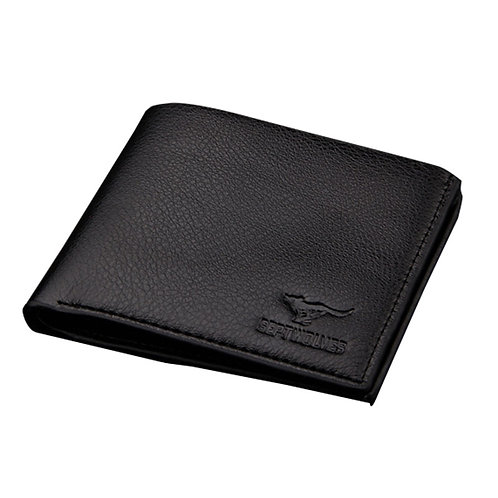 PU Black Men's Wallet
