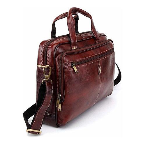 WildHorn Leather Brown Messenger Bag (1)