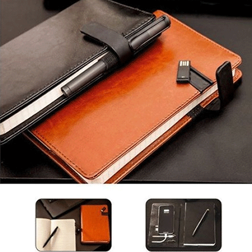 5000 mAh Power Bank Notebook with 16GB Pen Drive