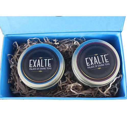 Festive Blue Tea Gift Box