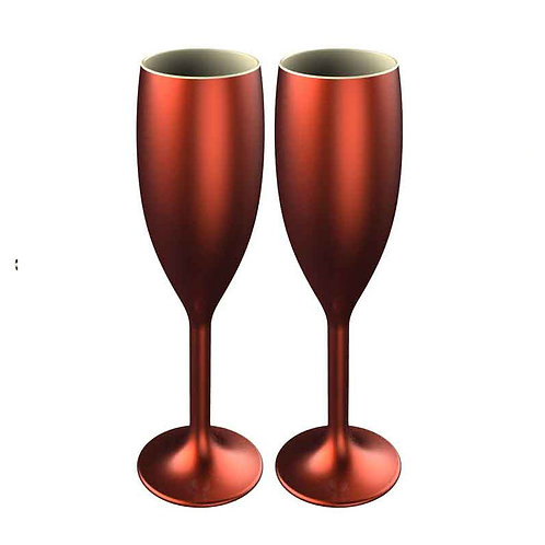 Copper Flute Champagne Glass - Pack of 2