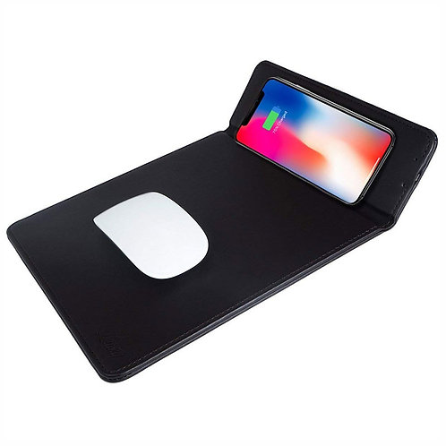 Mouse Pad with Wireless Charging & Mobile Holder