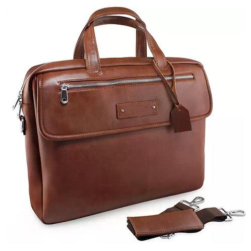 Premium Leather Multi-function Laptop Bag